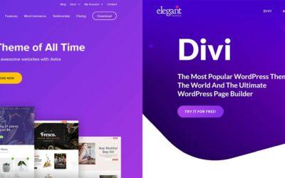 Divi vs Astra: A Battle for the Best Multipurpose WordPress Theme?